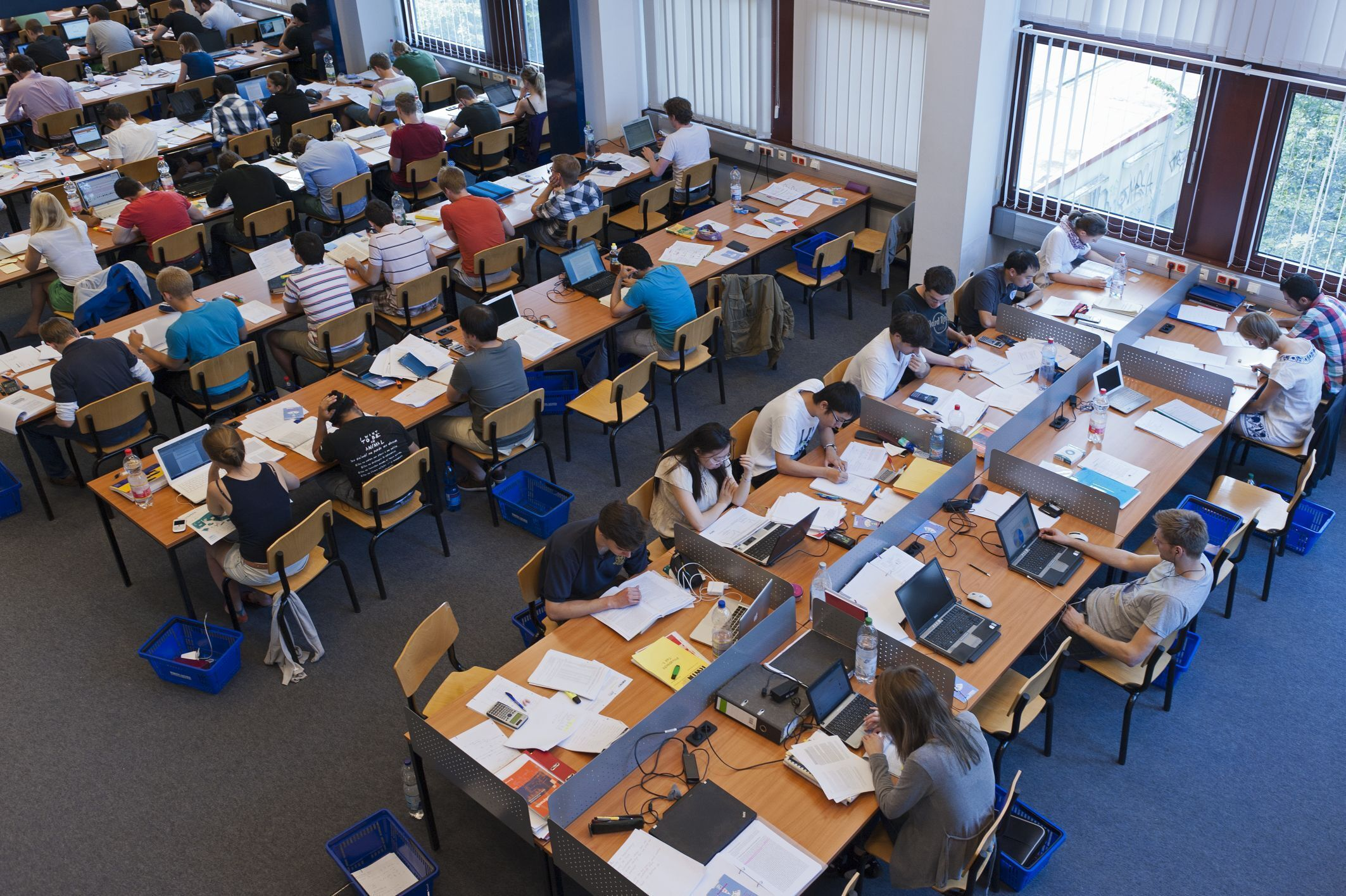 Students in the University Library