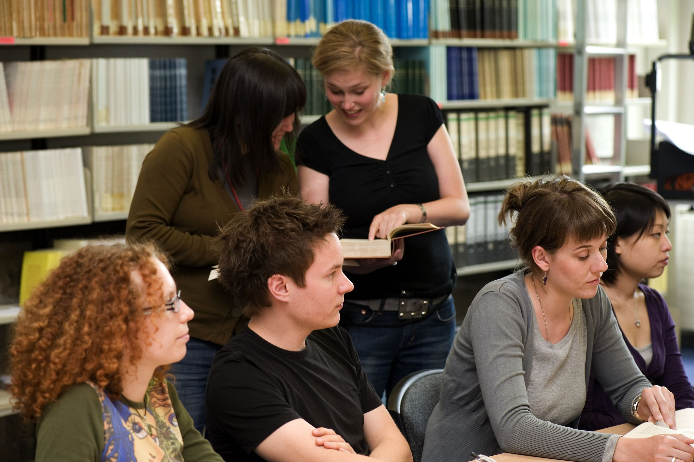 A Class Taking Place in the University Library