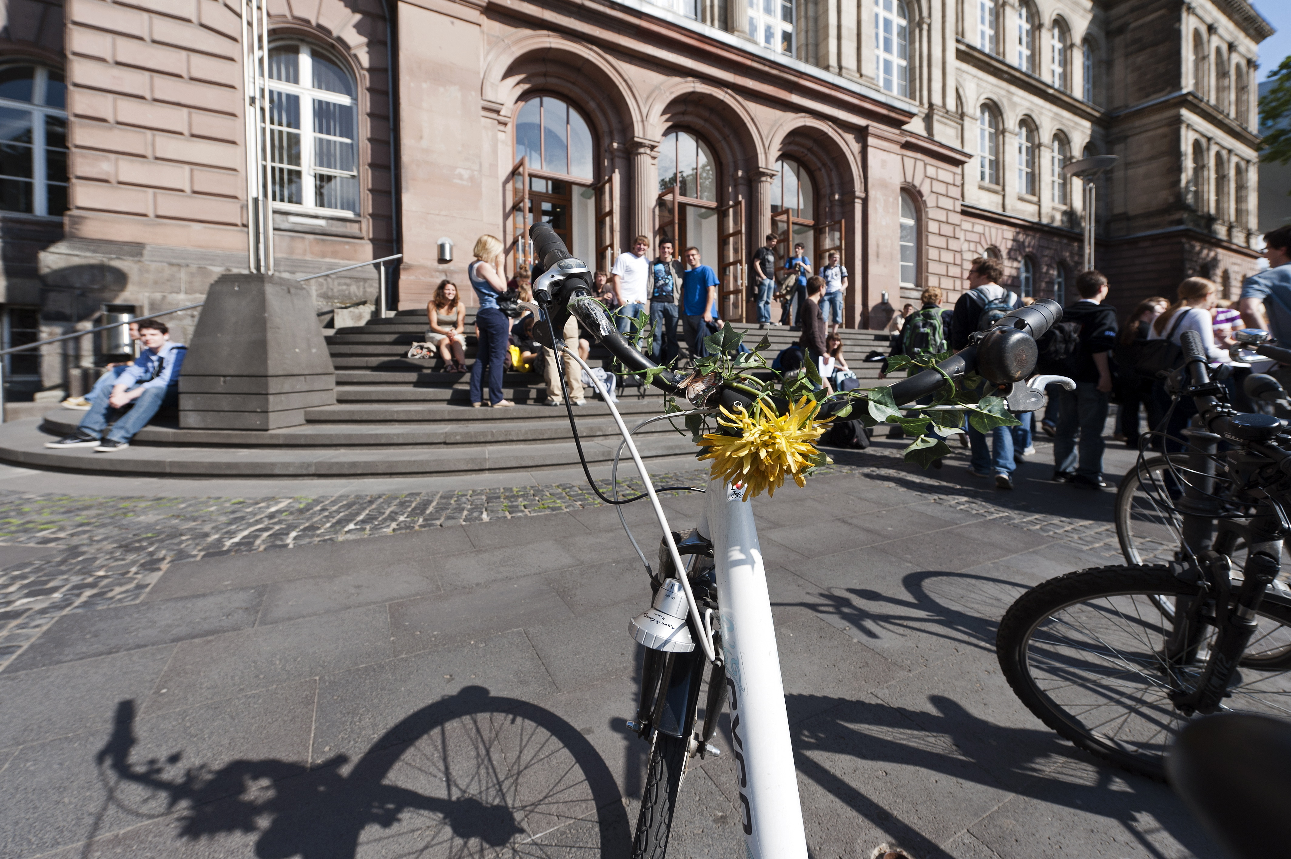 Students in Front of the RWTH Main Building II
